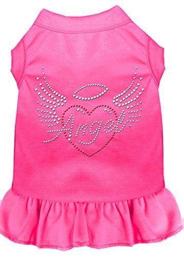 Mirage Pet Products 57-55 XSBPK Pink Angel Heart Rhinestone Dress Bright, X-Small