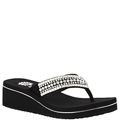 ead641472b7 Yellow Box Sirsee Women s Sandal 6 B(M) US Clear-Black
