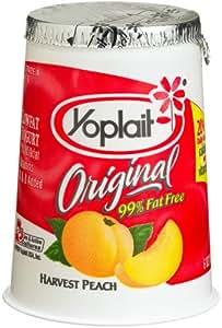 Amazon.com: Yoplait Yogurt Peach Original, 6-Ounce Cups ...