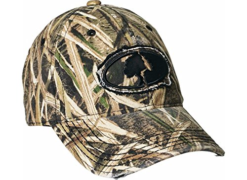 Camo Cap Mossy Oak Grass Blades Pattern  Beautiful Patch Shows Tree  River  Lake  Mountain  Frayed Bill