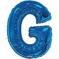 Balão Metalizado Supershape Letra G Azul Pack Regina Azul