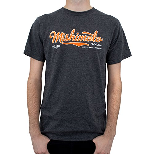XL MMAPL-SCRIPT-GYXL Mishimoto Mens Athletic Script T-Shirt Gray