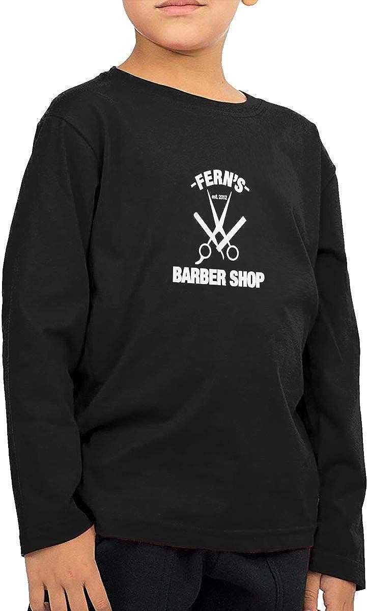 WZMD Barber Shop Childrens Long Sleeve T-Shirt for Boys Girls