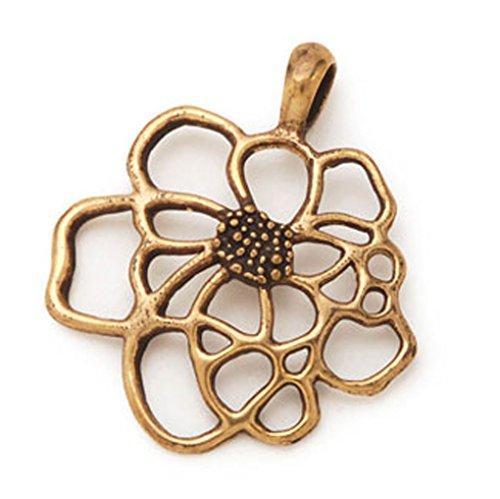 Flower Focal Pendant (Twister Focal Pendant 44mm Open Flower Gold colored)