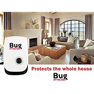 Ultrasonic Pest Repeller 2018 High Quality Bug Attacker Control & Prevention | Stop Insect & Mouse / Rat Repellant | Easy to Use, Plug In, Reject & Stay Away from Mosquito, Cockroach, Ants, Flies.