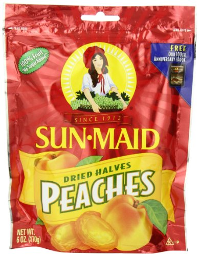 Sun Maid Peaches, 6-Ounce Pouches (Pack of 6)