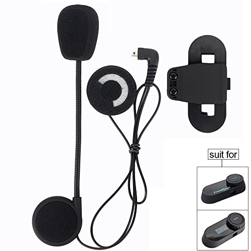 Motorcycle Helmet Speakers,FreedConn T-COMVB Series Headset and Clip Kits for Motorcycle Communication System(Sturdy and Durable/Black) by FreedConn (Image #5)