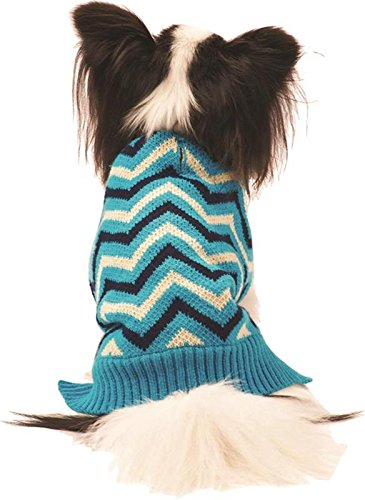 Ethical Fashion 601733 Chevron Dog Sweater, X-Small, bluee