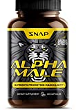 Libido Booster for Men - Alpha Male by Snap Supplements - L-Arginine, L-Citruline, Long Jax - Full Spectrum Nutrition for Firmness, Endurance, Libido and Manhood - 60 Capsules One Month Supply