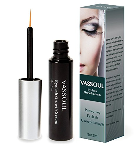 Vassoul Natural Eyelash Growth Serum for Lash and Brow, Irritation Free Formula (5mL) by VASSOUL