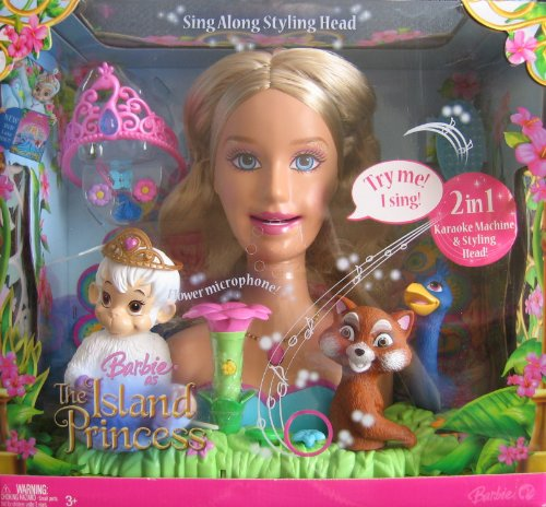 Barbie as the Island Princess: Princess Rosella Talking and Singing Styling - Princess Barbie Head Styling
