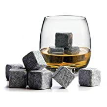 Itian 9 PCS Whisky Ice Stones Chilling Rocks Drinks Cooler Cubes Stones with Flannel Bags