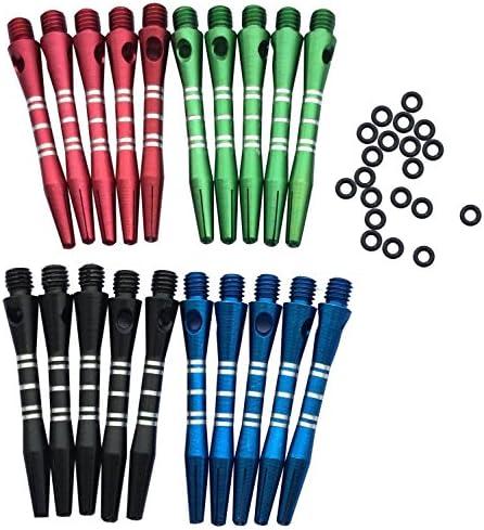 6pcs Aluminium Alloy Dart Shaft Darts Accessories 2BA Dart Stems Ro TDUK