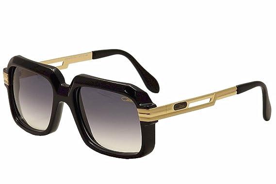 214bc424b83d Amazon.com  Cazal Vintage 607 2 Sunglasses 001SG Black Shiny Matte ...