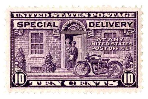 US POSTAGE SPECIAL DELIVERY 10C 20X13 LEISURE ART PRINT CP27
