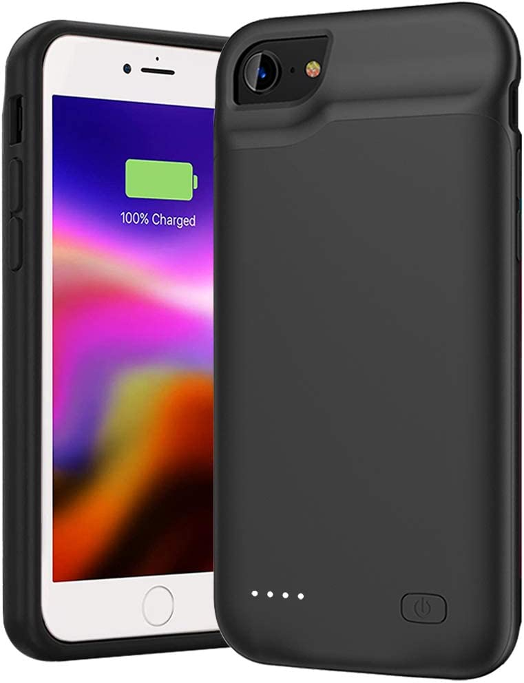 Amazon Com Battery Case For Iphone Se 2020 2nd Generation 8 7 6s 6 6000mah Portable Rechargeable Charger Case Compatible With Iphone 8 7 6s 6 Se 2020 2nd Generation 4 7 Inch External Battery Charging Case