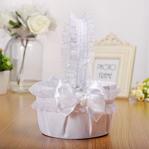 la de la de decoración nupcial Bowknot la la de la la fiesta del de de BESTOYARD Cesta novia cesta la de ceremonia la flor de cesta boda para Iq08KRFw