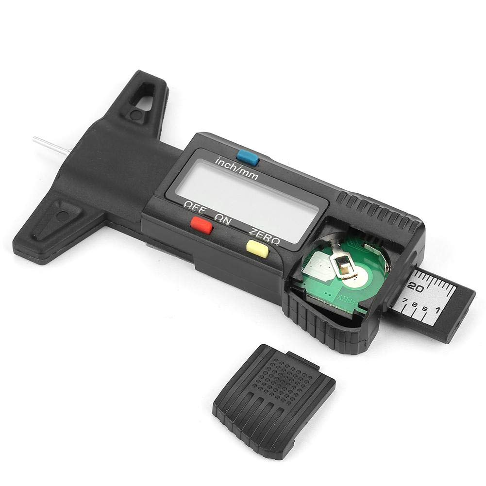 Digital Tire Tread Depth Gauge Lightweight Essential Measure Tool for Safe Driving with Metric//Inch Switchable LCD Display