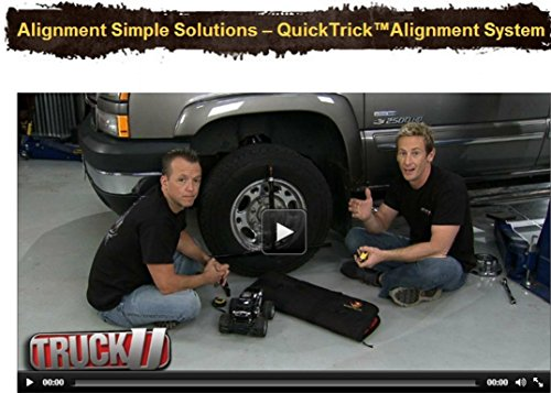 Pro System DIY Wheel Alignment Set up for BOTH Sides QuickSlide System w/Case Portable Wheel Alignment by QuickTrick (Image #1)