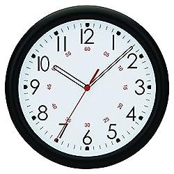 Tempus® Wall Clock with Minute Minder Face and Quartz Movement, 10, Black