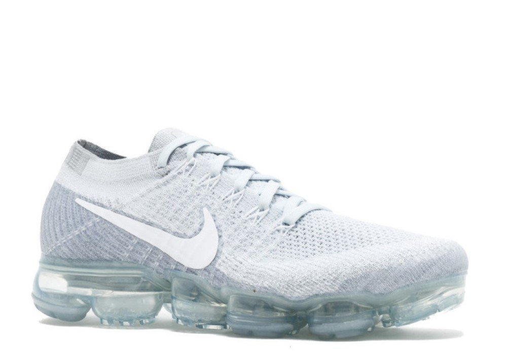 NIKE Women's Air Vapormax Flyknit Running Shoes B072MGXGTH 8.5|Pure Platinum/White-cool Grey