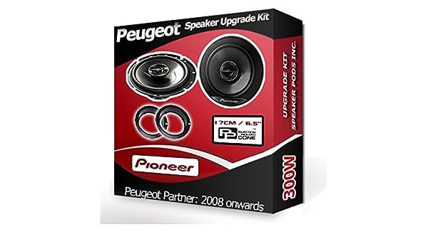 Peugeot Partner Tepee Puerta Delantera Altavoces Pioneer Altavoces del coche 240 W: Amazon.es: Coche y moto