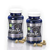 2X Neurella Extra Strength Vegan Brain Supplement – Powerful Brain Food & Memory Booster. Improve Focus, Clarity & Energy. Mental Performance Nootropic – Nutritional Vegetarian Brain Fuel.