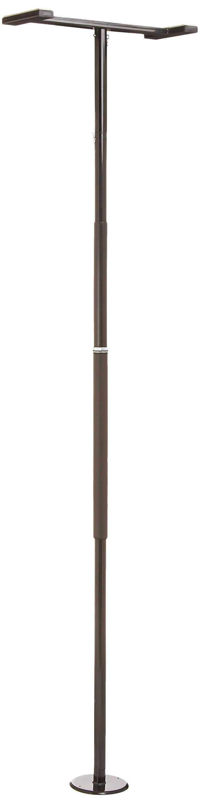 Stander Security Pole - Tension Mounted Elderly Transfer Pole + Bathroom Aids to Daily Living & Assist Grab Bar - Metallic Black