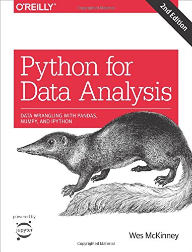 Book cover from Python for Data Analysis: Data Wrangling with Pandas, NumPy, and IPython by Wes McKinney
