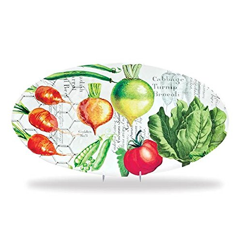 Michel Design Works Melamine Oval Serving Platter, Vegetable - Design Melamine Platter