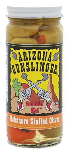 (Arizona Gunslinger Smokin Hot Habanero Stuffed Olives 5oz)