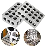 "2pcs Ultra Precision 0002"" Engineers Blocks Hardened Steel Block for Milling Tool 1"" x 2"" x 3"""