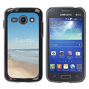 Cubierta protectora del caso de Shell Plástico || Samsung Galaxy Ace 3 GT-S7270 GT-S7275 GT-S7272 || Motivational Text @XPTECH