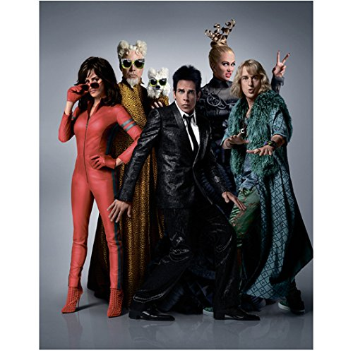 Original 2016 Costumes (Zoolander 2 (2016) 11 Inch x17 Inch lithograph Cast in Wild Costumes Blue/Grey Background kn)
