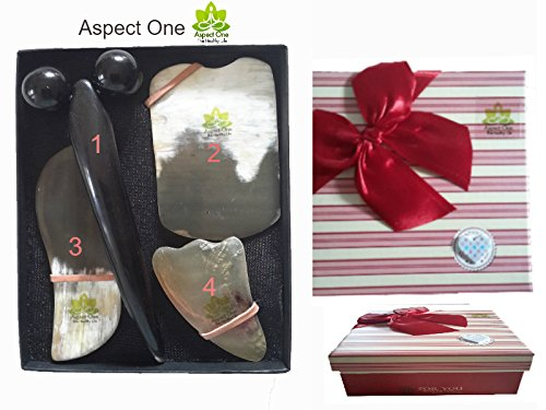 aspect-one-qua-sha-scraping-massage-tool-set-ultra-smooth-with-natural-yak-horn-scrape-and-roller-fo