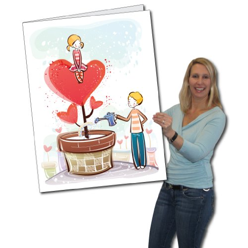 2' x 3' Giant Valentine's Day Card - Love Grows - Envelope Included