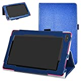 "RCA 7 VOYAGER II Case,Mama Mouth PU Leather Folio 2-folding Stand Cover with Stylus Holder for 7"" RCA 7 VOYAGER II RCT6773W22 2015 Model Tablet,Dark Blue"