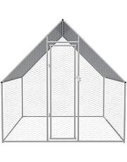 Tidyard Outdoor Chicken Cage Galvanised Steel 2x2x2 m