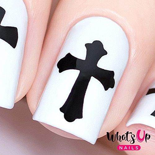 Whats Up Nails - Gothic Vinyl Stencils for Halloween Nail Art Design (1 Sheet, 20 Stencils) ()