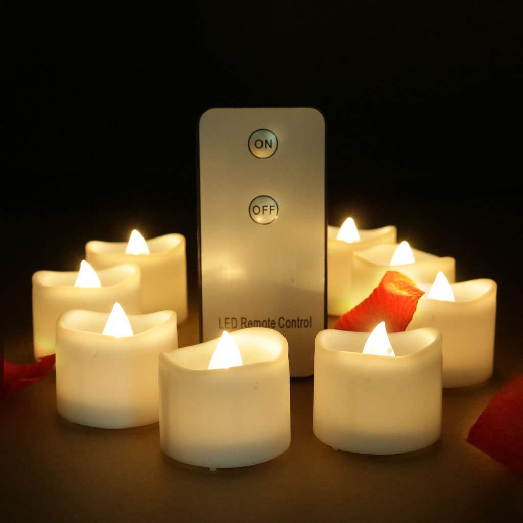 ADAHX Luz de la Vela del LED, Velas flameless de la Navidad ...