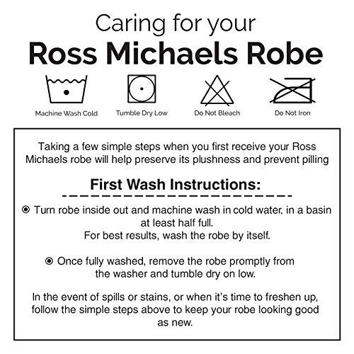 8d5f94a905 Ross Michaels Mens Hooded Long Robe - Full Length Big   Tall Bathrobe