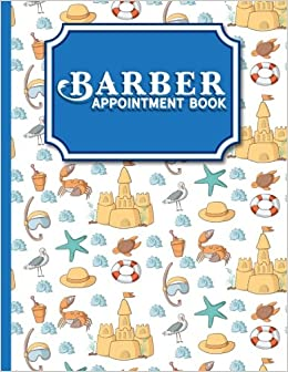 barber appointment book 2 columns appointment notepad blank