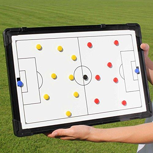 Magnetische Taktiktafel, 45 cm x 30 cm, mit Tragetasche, für Teamsportbedarf - Fußballtraining
