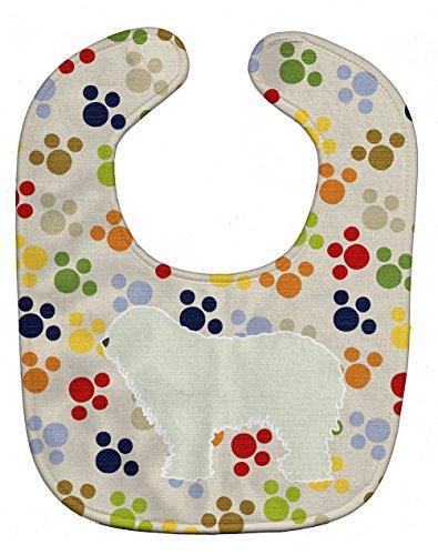 Caroline's Treasures Pawprints Baby Bib, Komondor, Large