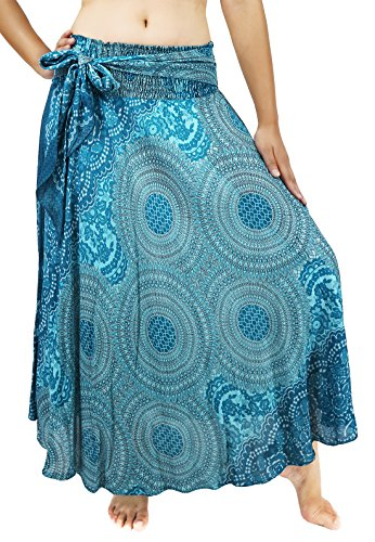 Lovely Creations's Women Long Bohemian Maxi Skirts Midi Dress US Size 0-18 (AK - Shopping India To Us Online