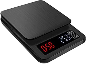 ALY USB 5kg/0.1g Digital Kitchen Scale, Multifunction High Precision Kitchen Scale, Touch Sensitive Button, for Baking and Cooking, Black