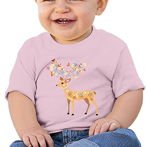 A Deer In The Headlights Costume (Cute Deer 6 - 24 Months Baby T-shirts Round Neck Shirt 12 Months)