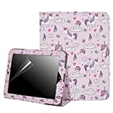 HDE Case for Original iPad 1st Generation - Slim Fit Leather Cover Stand Folio with Magnetic Closure for Apple iPad 1 (Cute Unicorns)