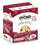 Evoke Single-Serve Organic Gluten-Free Muesli, Cinna, 5 Count (Pack of 12)