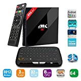APTC Octa Core 32GB/3GB RAM H96 Pro+ Plus 1080p 4K 3D Android 7.1 Amlogic S912 Dual Wifi 5G Bluetooth 4.1 TV Box+Touchpad Wireless Keyboard Remote